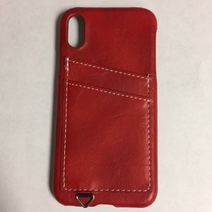 iPhone X or XS Credit Card Case (red)